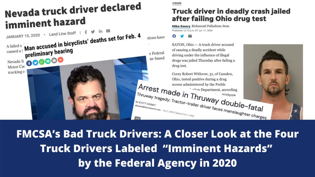 FMCSA Bad Truck Drivers